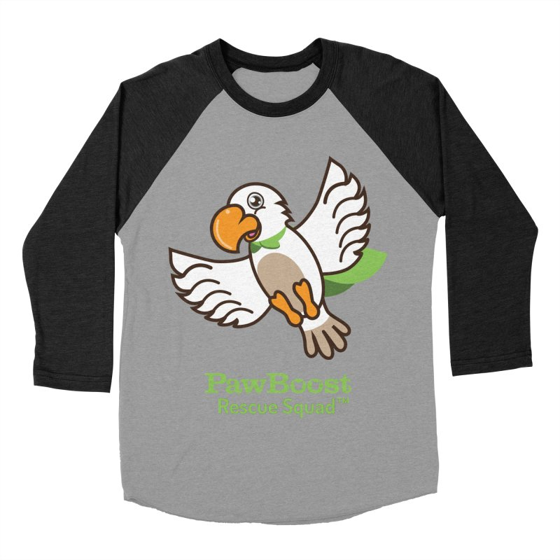 Perry (parrot) Women's Baseball Triblend T-Shirt by PawBoost's Shop
