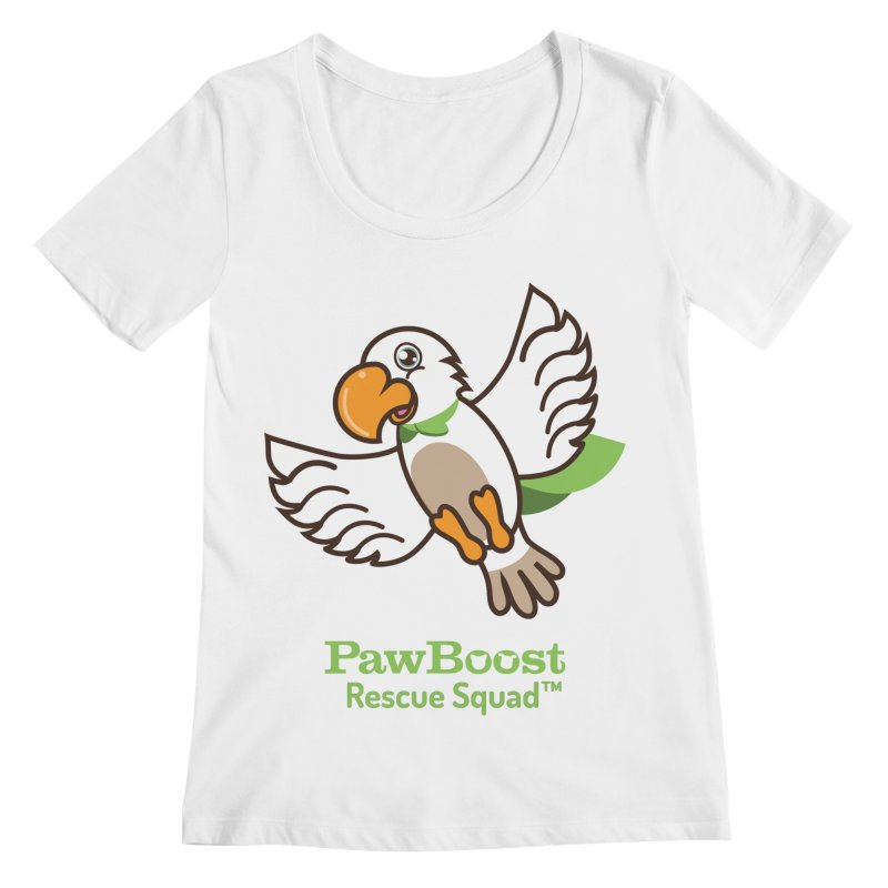 Perry (parrot) Women's Regular Scoop Neck by PawBoost's Shop