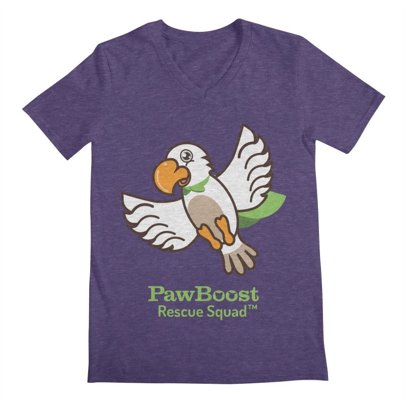 Perry (parrot) Men's Regular V-Neck by PawBoost's Shop