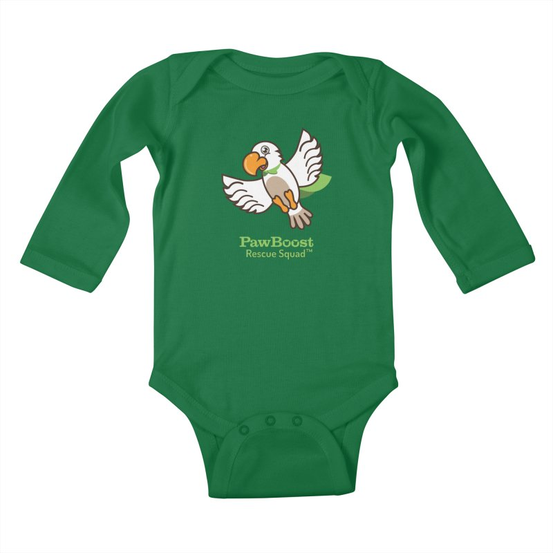 Perry (parrot) Kids Baby Longsleeve Bodysuit by PawBoost's Shop