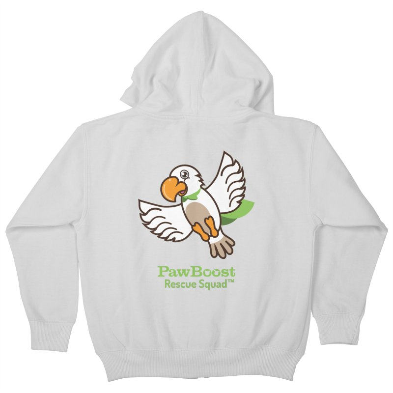 Perry (parrot) Kids Zip-Up Hoody by PawBoost's Shop