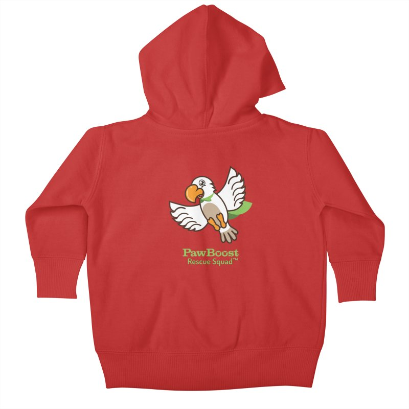 Perry (parrot) Kids Baby Zip-Up Hoody by PawBoost's Shop