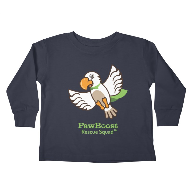 Perry (parrot) Kids Toddler Longsleeve T-Shirt by PawBoost's Shop