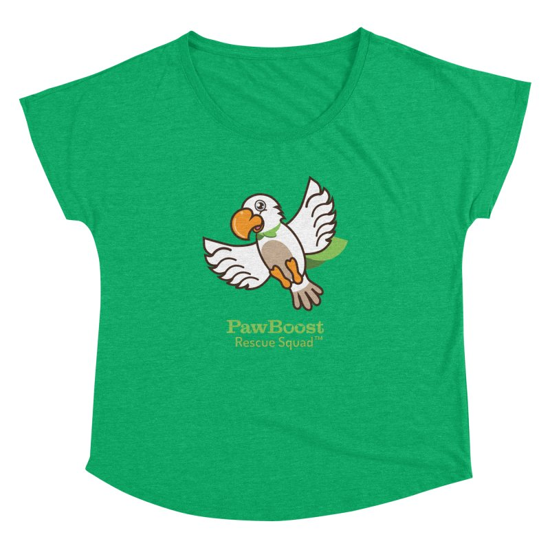 Perry (parrot) Women's Dolman Scoop Neck by PawBoost's Shop