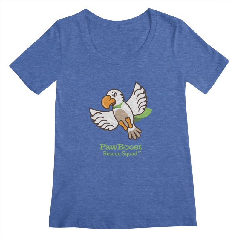 Perry (parrot) Women's Scoopneck by PawBoost's Shop