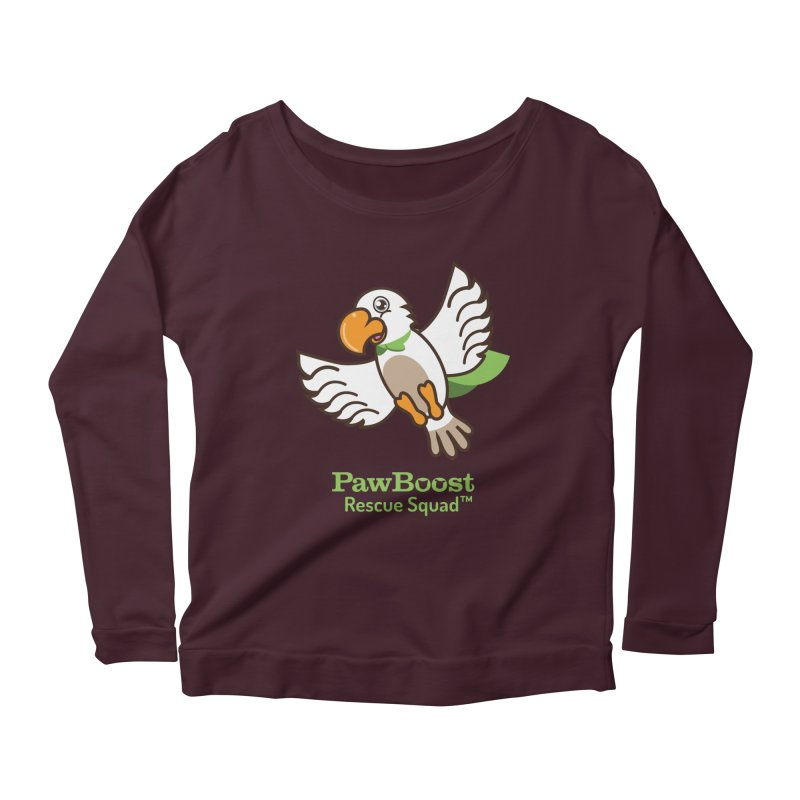 Perry (parrot) Women's Scoop Neck Longsleeve T-Shirt by PawBoost's Shop