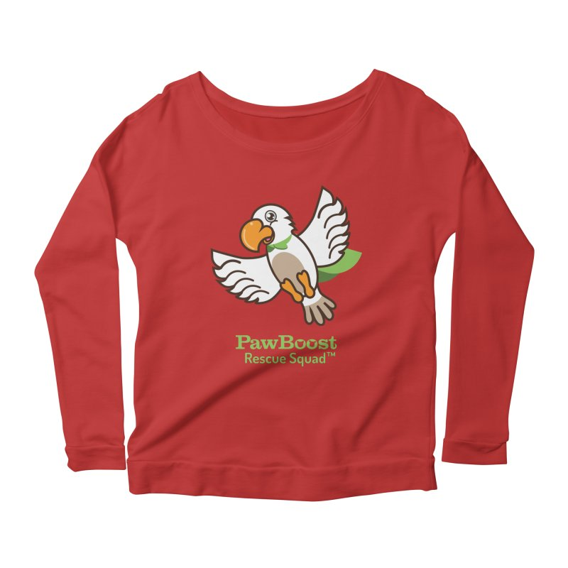 Perry (parrot) Women's Longsleeve Scoopneck  by PawBoost's Shop