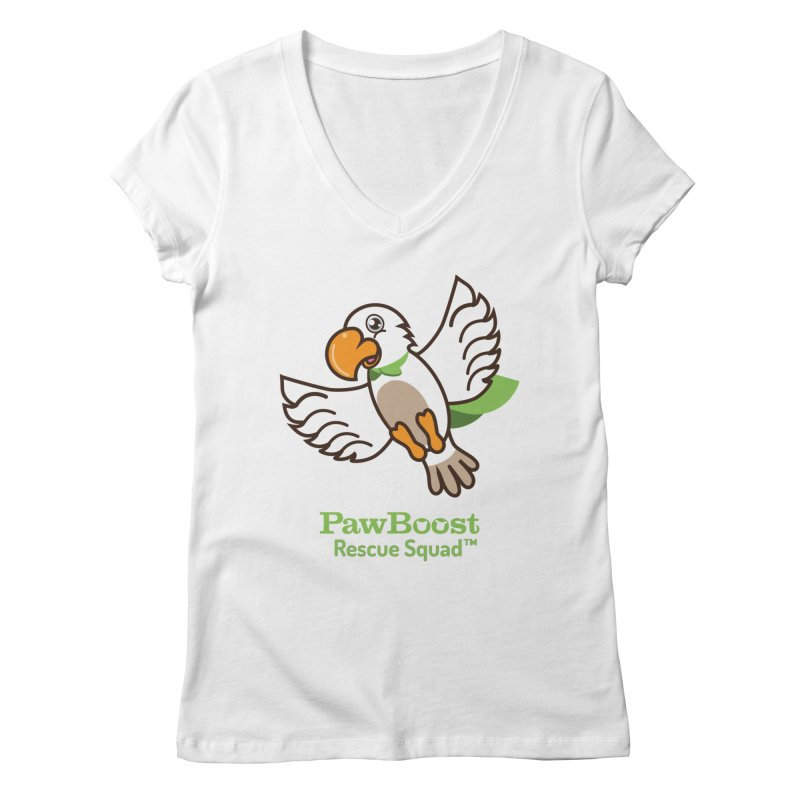 Perry (parrot) Women's V-Neck by PawBoost's Shop