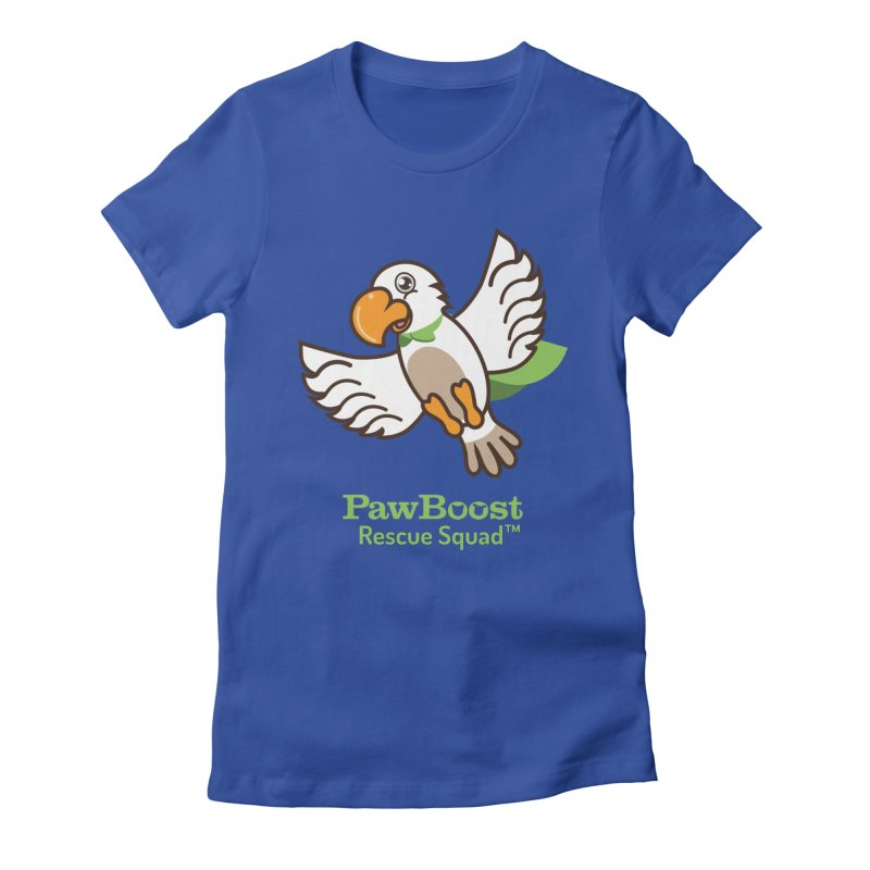 Perry (parrot) Women's Fitted T-Shirt by PawBoost's Shop