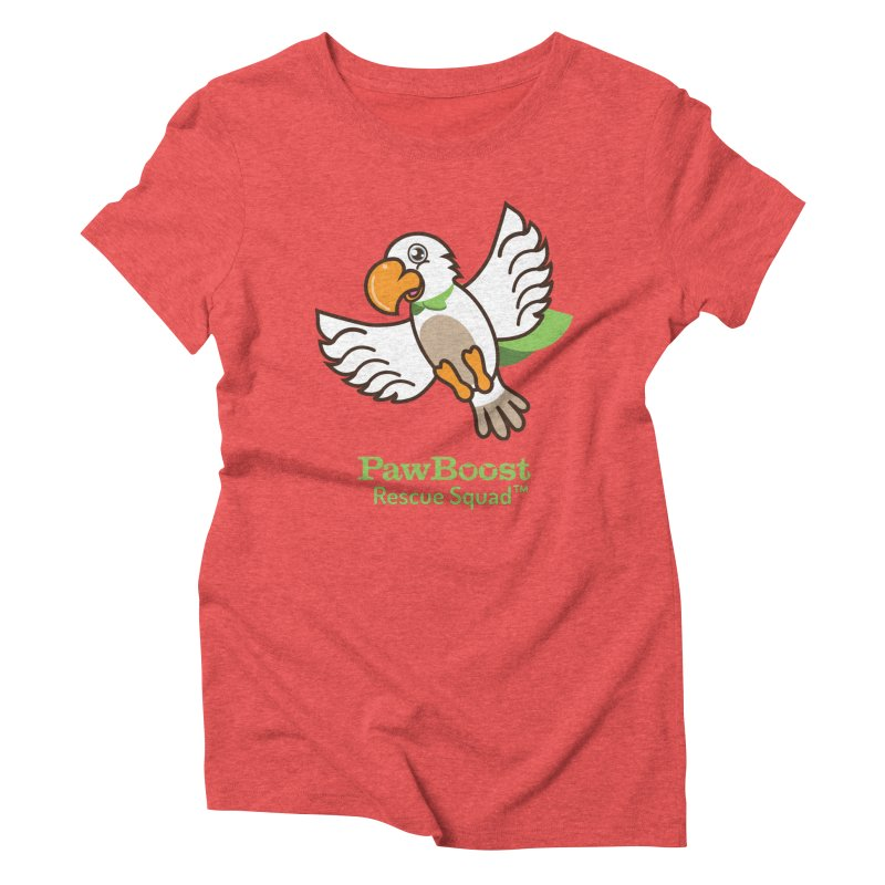 Perry (parrot) Women's Triblend T-Shirt by PawBoost's Shop