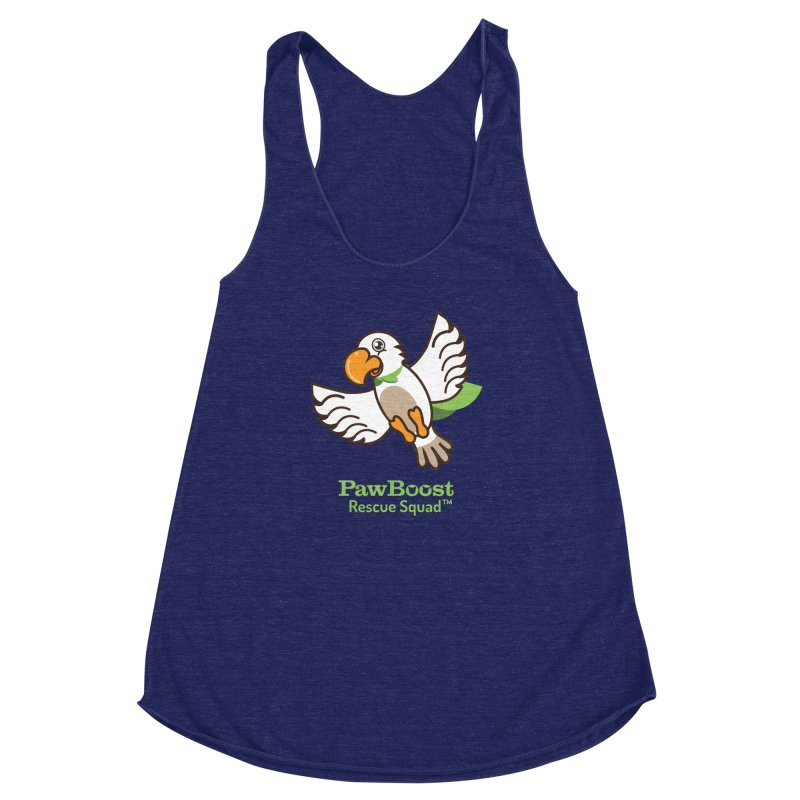 Perry (parrot) Women's Racerback Triblend Tank by PawBoost's Shop