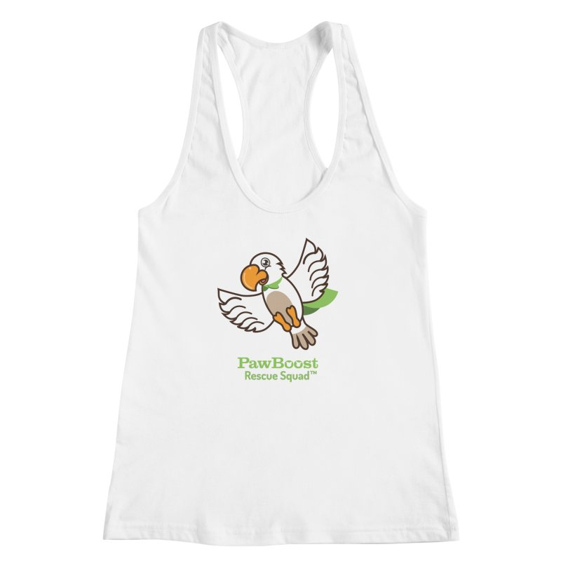 Perry (parrot) Women's Racerback Tank by PawBoost's Shop