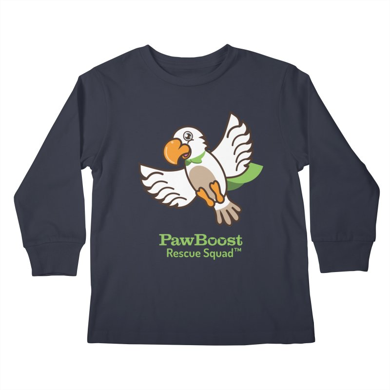Perry (parrot) Kids Longsleeve T-Shirt by PawBoost's Shop
