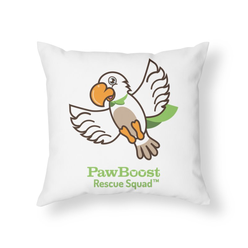 Perry (parrot) Home Throw Pillow by PawBoost's Shop