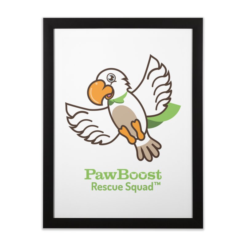 Perry (parrot) Home Framed Fine Art Print by PawBoost's Shop