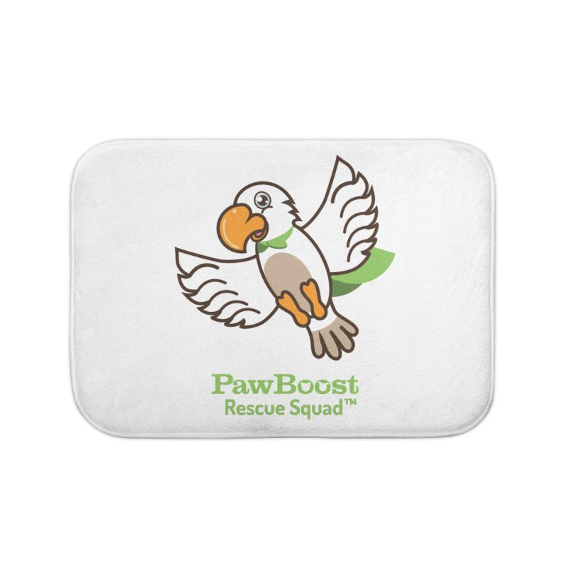 Perry (parrot) Home Bath Mat by PawBoost's Shop