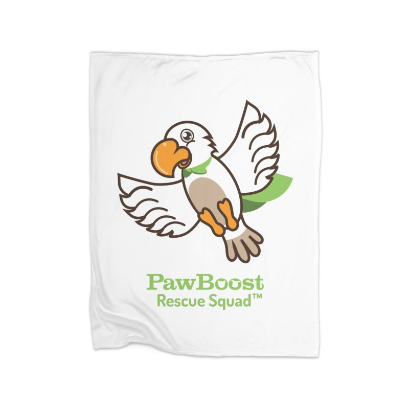Perry (parrot) Home Fleece Blanket Blanket by PawBoost's Shop
