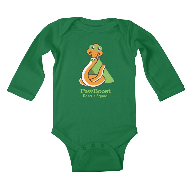 Stanley (snake) Kids Baby Longsleeve Bodysuit by PawBoost's Shop