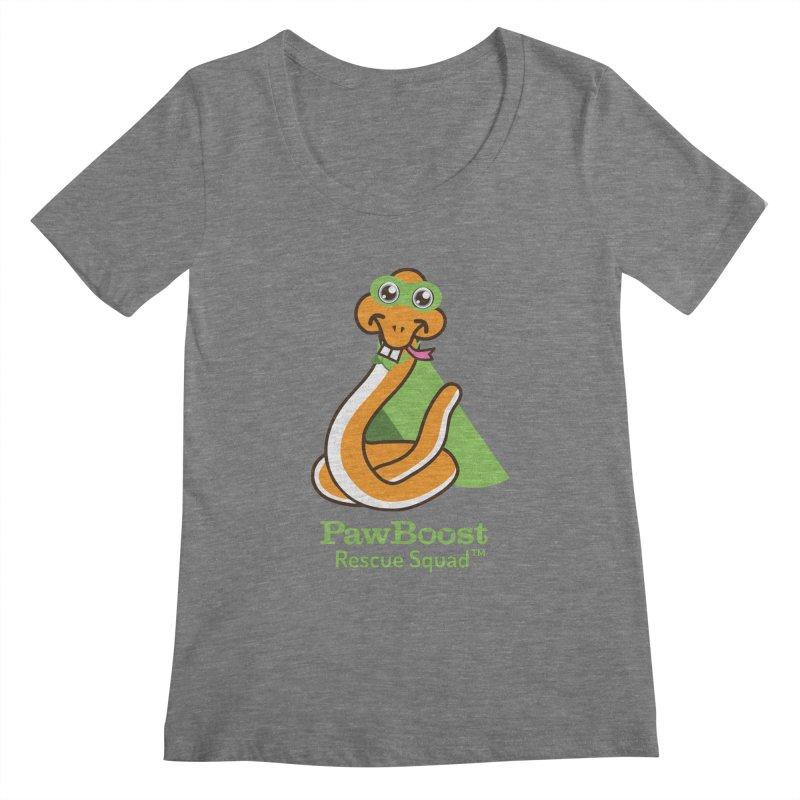Stanley (snake) Women's Scoopneck by PawBoost's Shop