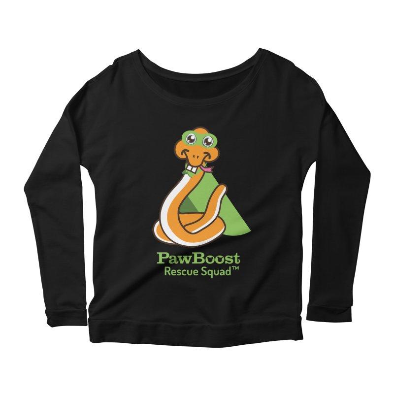 Stanley (snake) Women's Scoop Neck Longsleeve T-Shirt by PawBoost's Shop