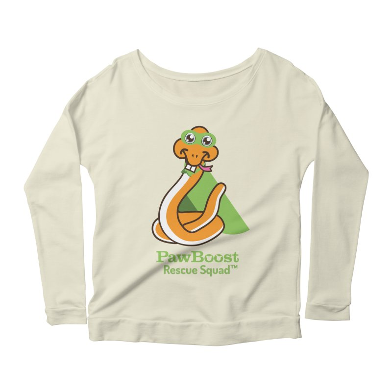 Stanley (snake) Women's Scoop Neck Longsleeve T-Shirt by PawBoost's Shop