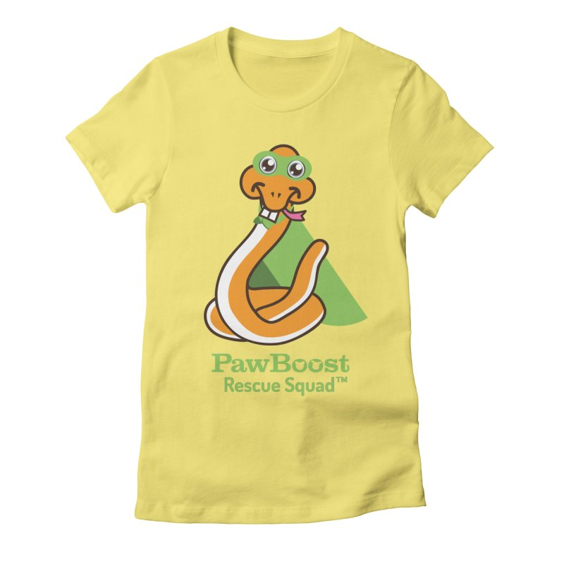 Stanley (snake) Women's Fitted T-Shirt by PawBoost's Shop