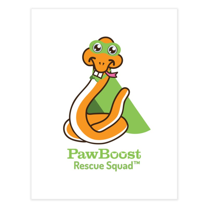 Stanley (snake) Home Fine Art Print by PawBoost's Shop