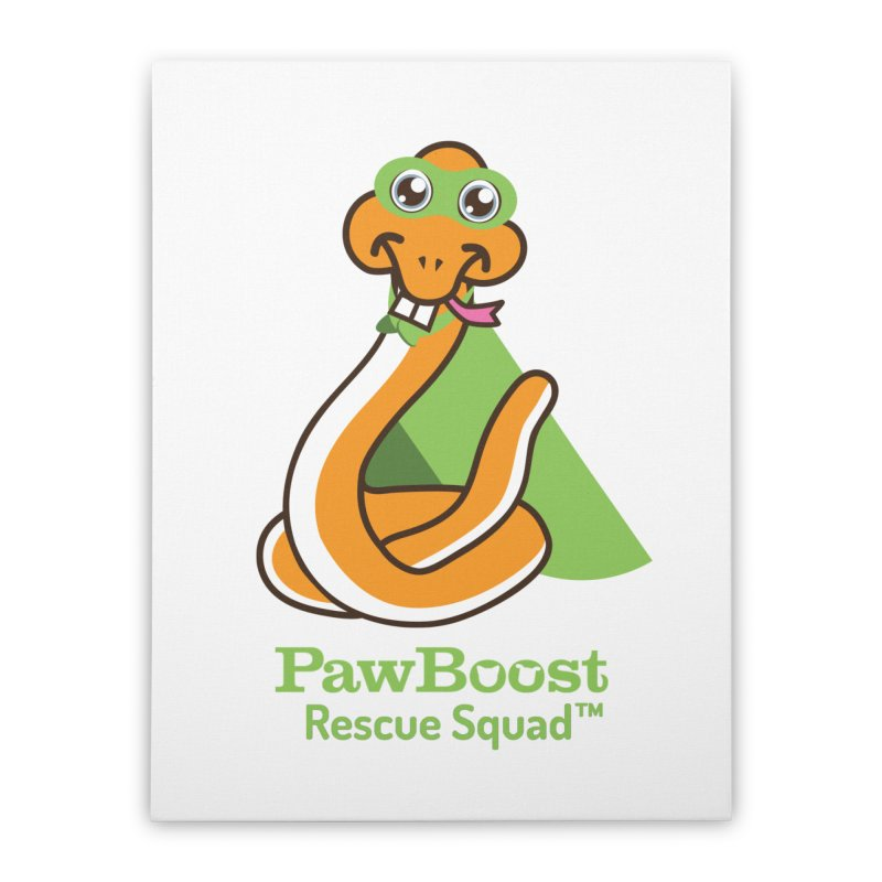 Stanley (snake) Home Stretched Canvas by PawBoost's Shop