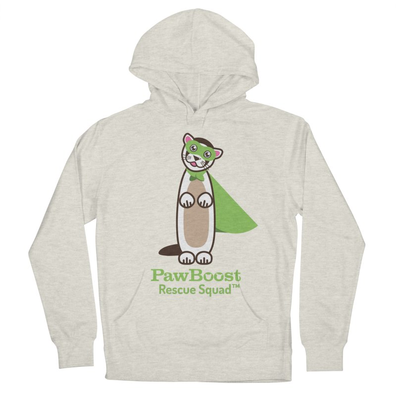 Frankie (ferret) Men's French Terry Pullover Hoody by PawBoost's Shop