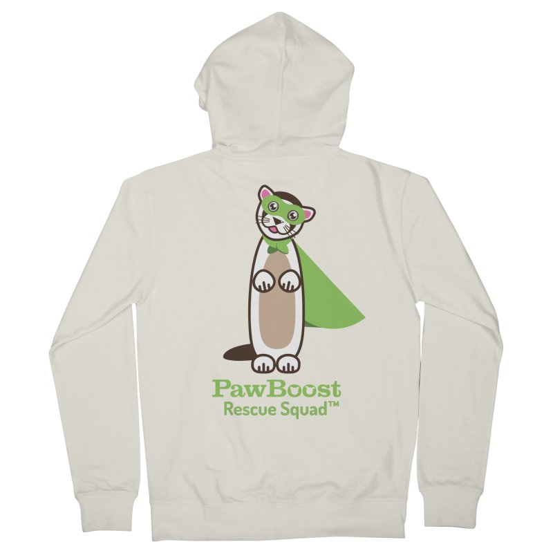 Frankie (ferret) Women's French Terry Zip-Up Hoody by PawBoost's Shop