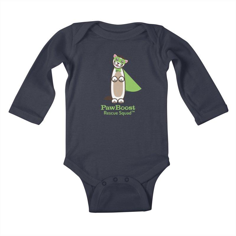 Frankie (ferret) Kids Baby Longsleeve Bodysuit by PawBoost's Shop