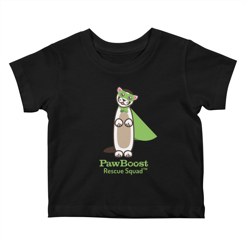 Frankie (ferret) Kids Baby T-Shirt by PawBoost's Shop