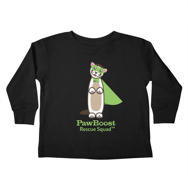 Frankie (ferret) Kids Toddler Longsleeve T-Shirt by PawBoost's Shop