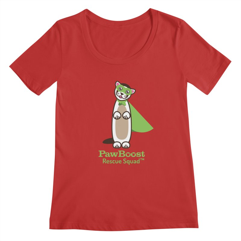Frankie (ferret) Women's Scoopneck by PawBoost's Shop