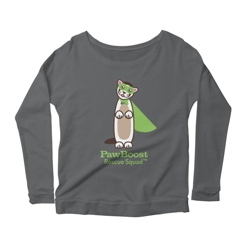 Frankie (ferret) Women's Scoop Neck Longsleeve T-Shirt by PawBoost's Shop