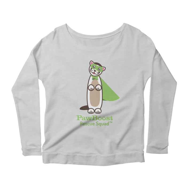 Frankie (ferret) Women's Scoop Neck Longsleeve T-Shirt by PawBoost's Shop