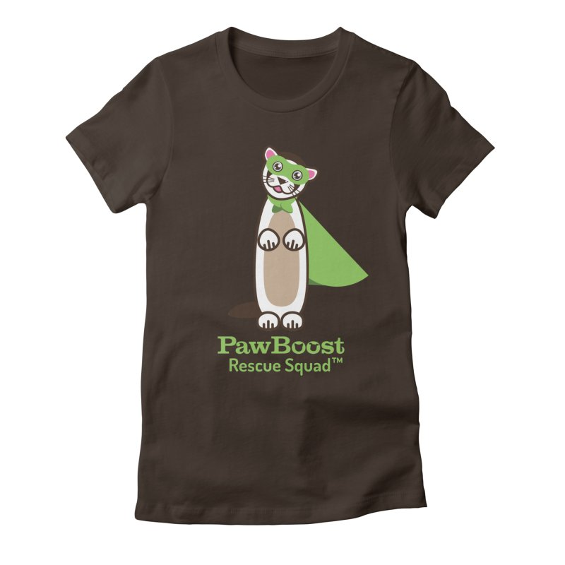 Frankie (ferret) Women's Fitted T-Shirt by PawBoost's Shop