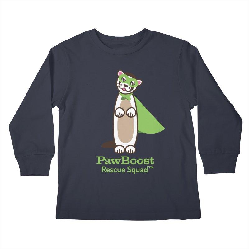 Frankie (ferret) Kids Longsleeve T-Shirt by PawBoost's Shop