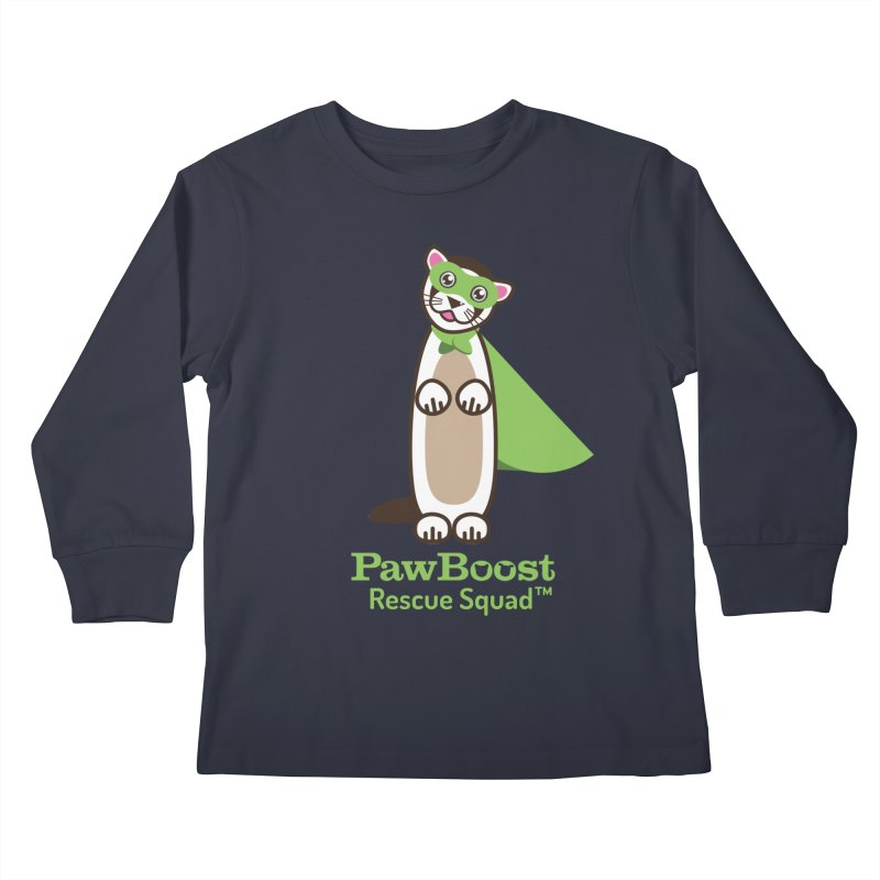 Frankie (ferret) Kids Longsleeve T-Shirt by PawBoost's Shop
