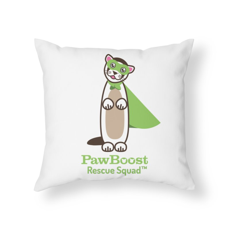 Frankie (ferret) Home Throw Pillow by PawBoost's Shop
