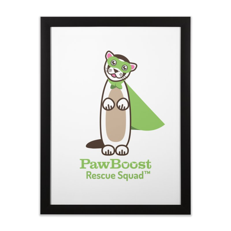 Frankie (ferret) Home Framed Fine Art Print by PawBoost's Shop