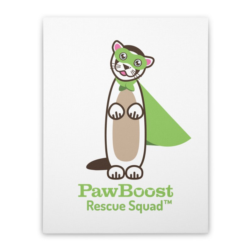 Frankie (ferret) Home Stretched Canvas by PawBoost's Shop