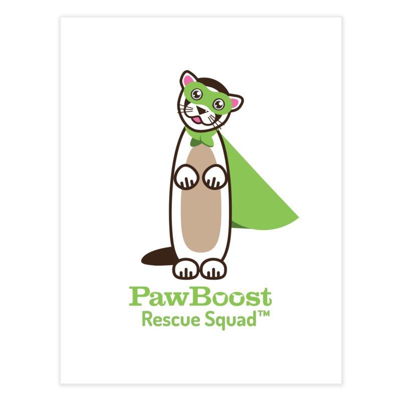 Frankie (ferret) Home Fine Art Print by PawBoost's Shop
