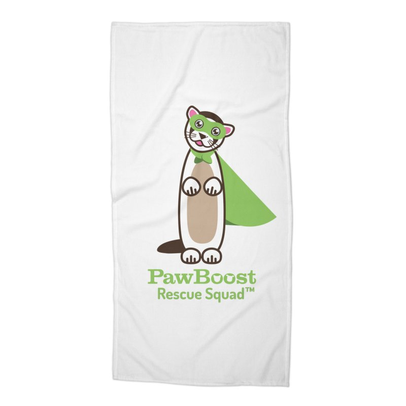 Frankie (ferret) Accessories Beach Towel by PawBoost's Shop