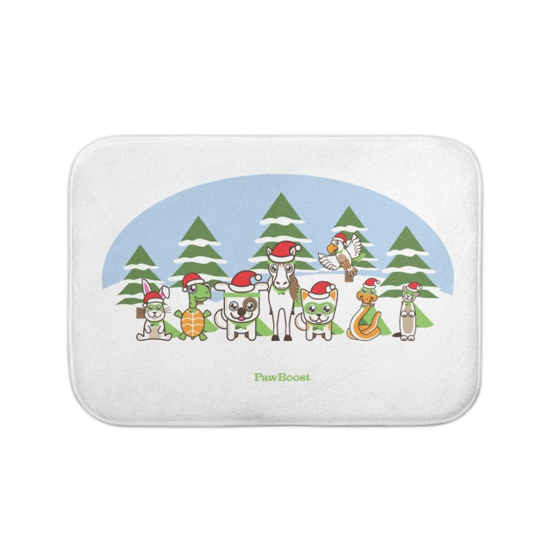 Rescue Squad (winter wonderland) Home Bath Mat by PawBoost's Shop