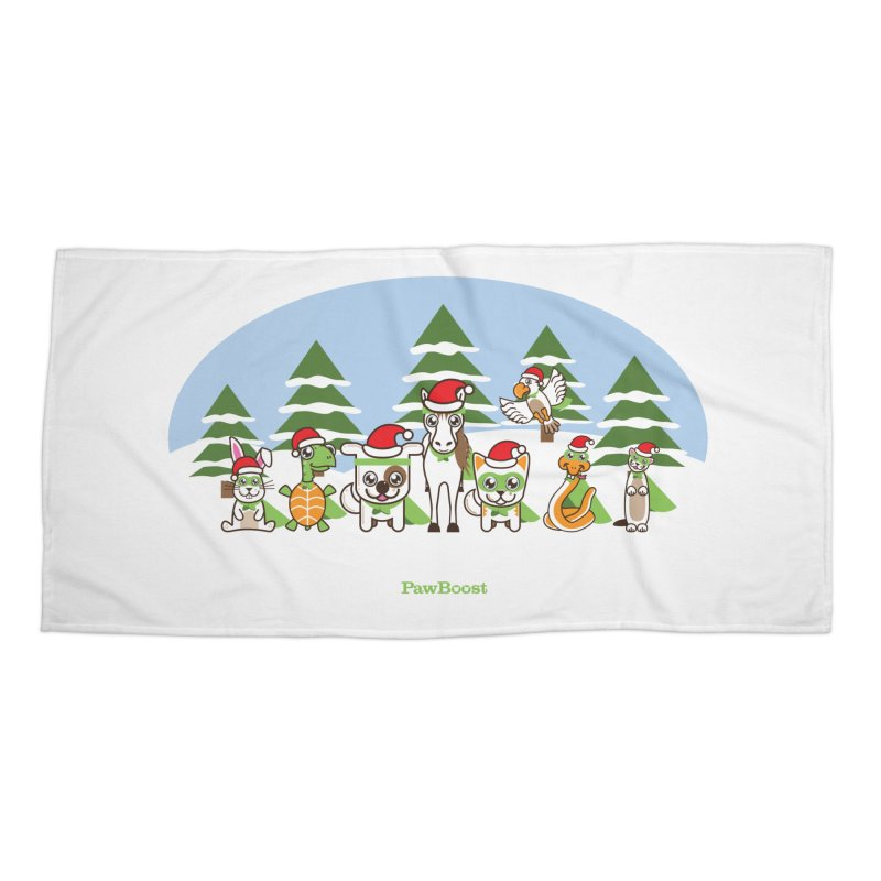Rescue Squad (winter wonderland) Accessories Beach Towel by PawBoost's Shop