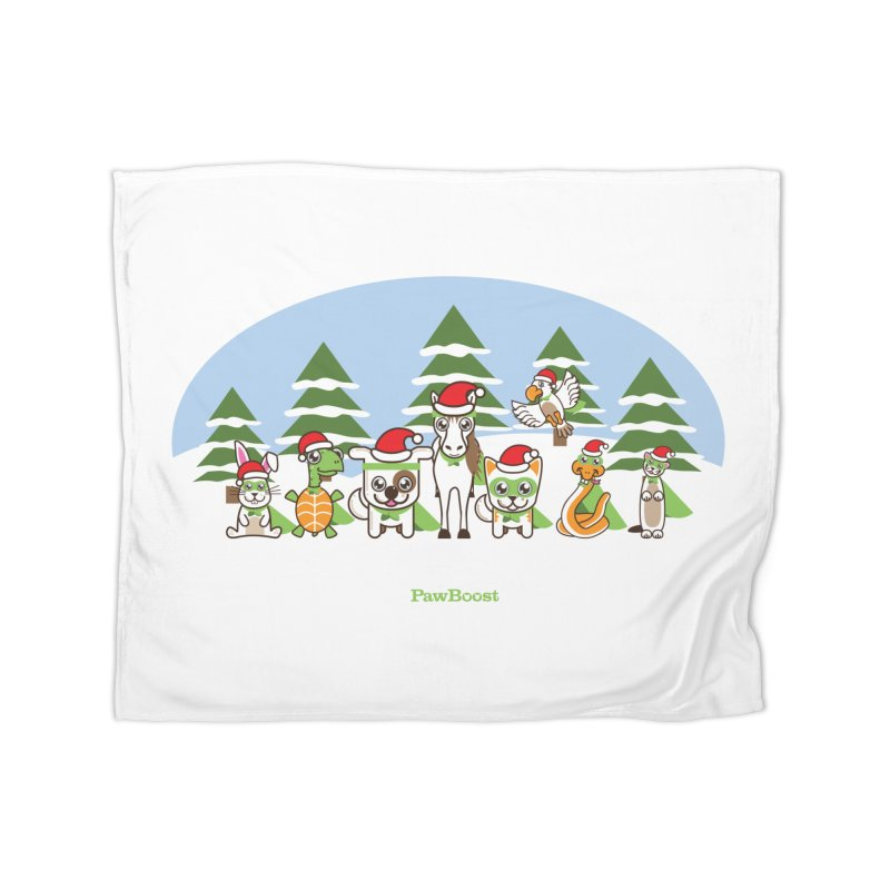 Rescue Squad (winter wonderland) Home Fleece Blanket Blanket by PawBoost's Shop