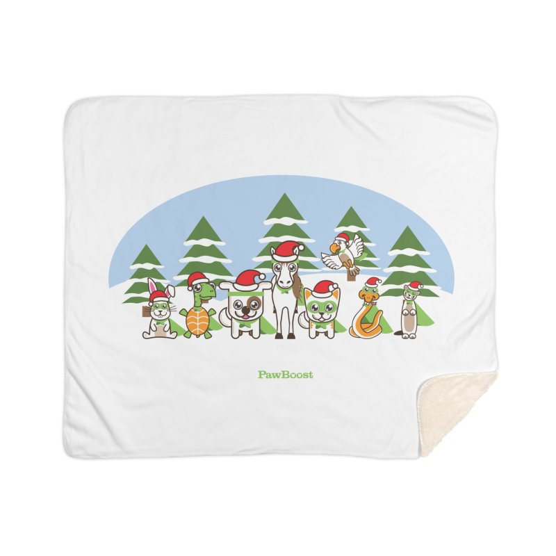 Rescue Squad (winter wonderland) Home Sherpa Blanket Blanket by PawBoost's Shop