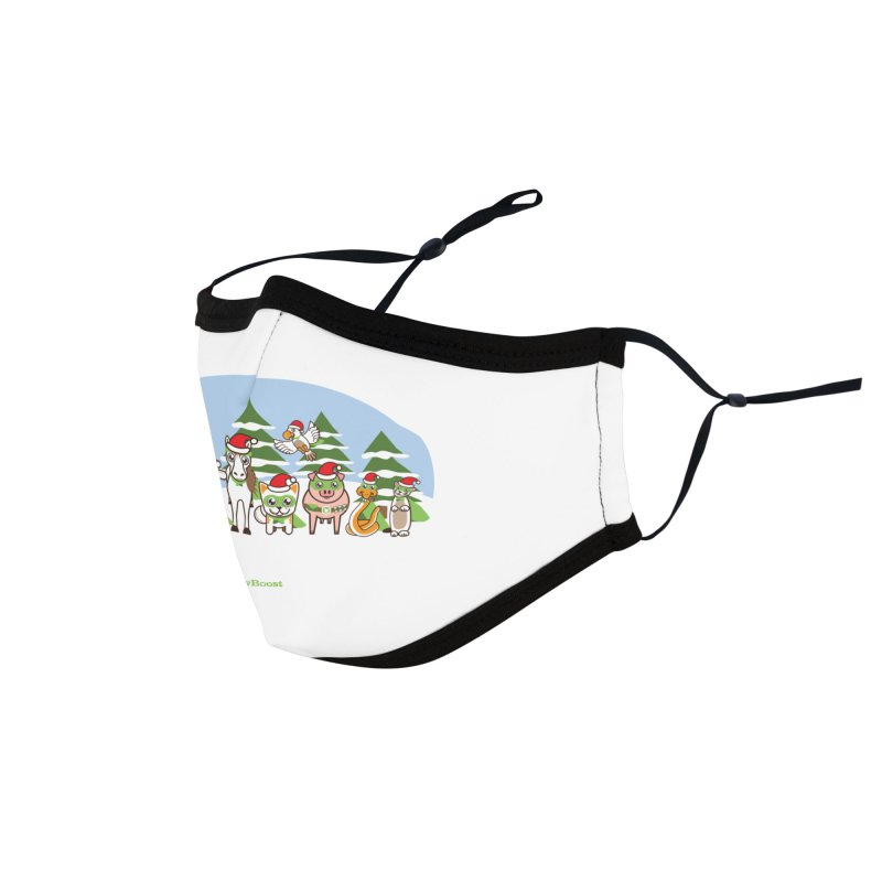 Rescue Squad (winter wonderland) Accessories Face Mask by PawBoost's Shop