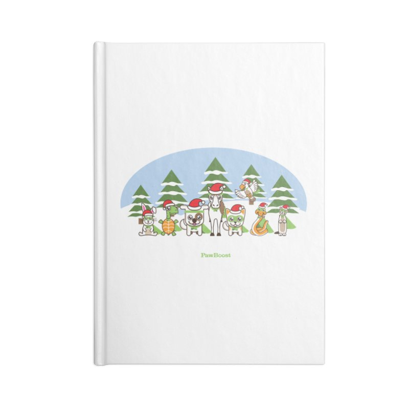 Rescue Squad (winter wonderland) Accessories Lined Journal Notebook by PawBoost's Shop